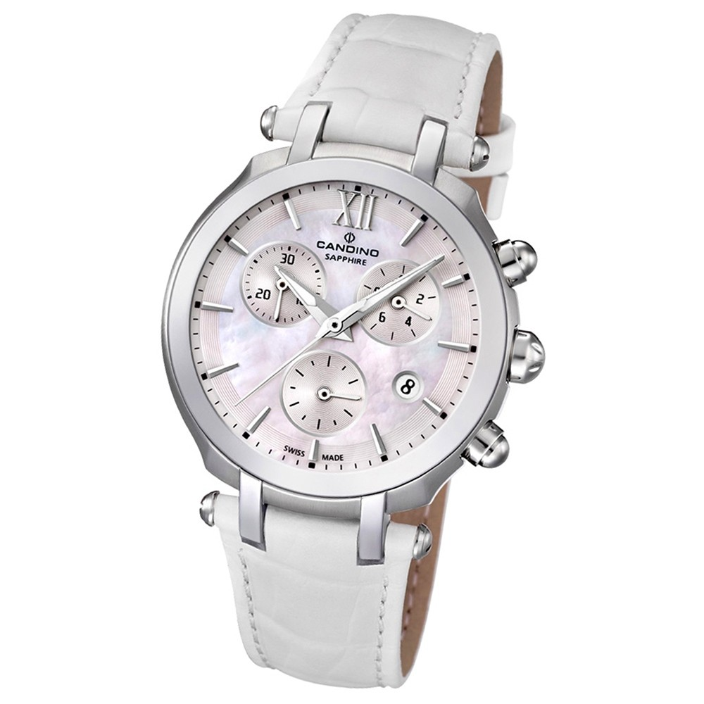 Candino Damen-Armbanduhr Athletic Chic Chronograph Quarz Leder UC4521/1