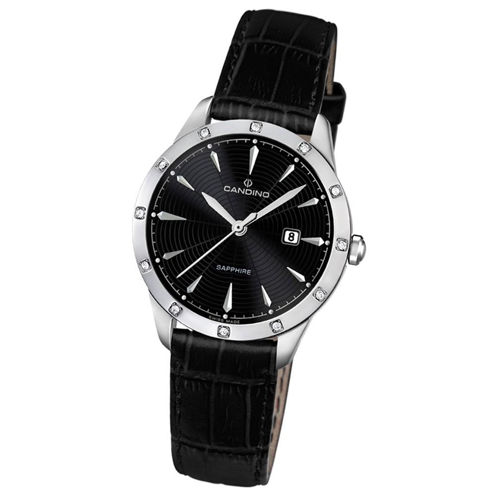 Candino Damen-Armbanduhr Timeless analog Quarz Leder UC4527/3