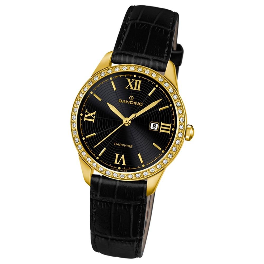 Candino Damen-Armbanduhr Timeless analog Quarz Leder UC4529/3