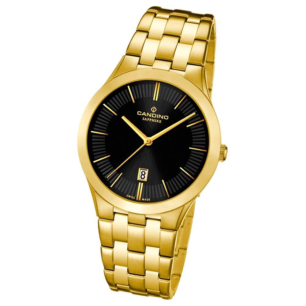 Candino Herren-Armbanduhr Timeless analog Quarz Edelstahl Gelbgold PVD UC4541/3