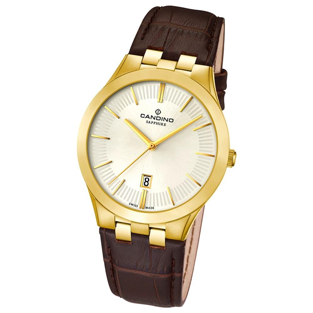 Candino Herren-Armbanduhr Timeless analog Quarz Leder UC4542/1