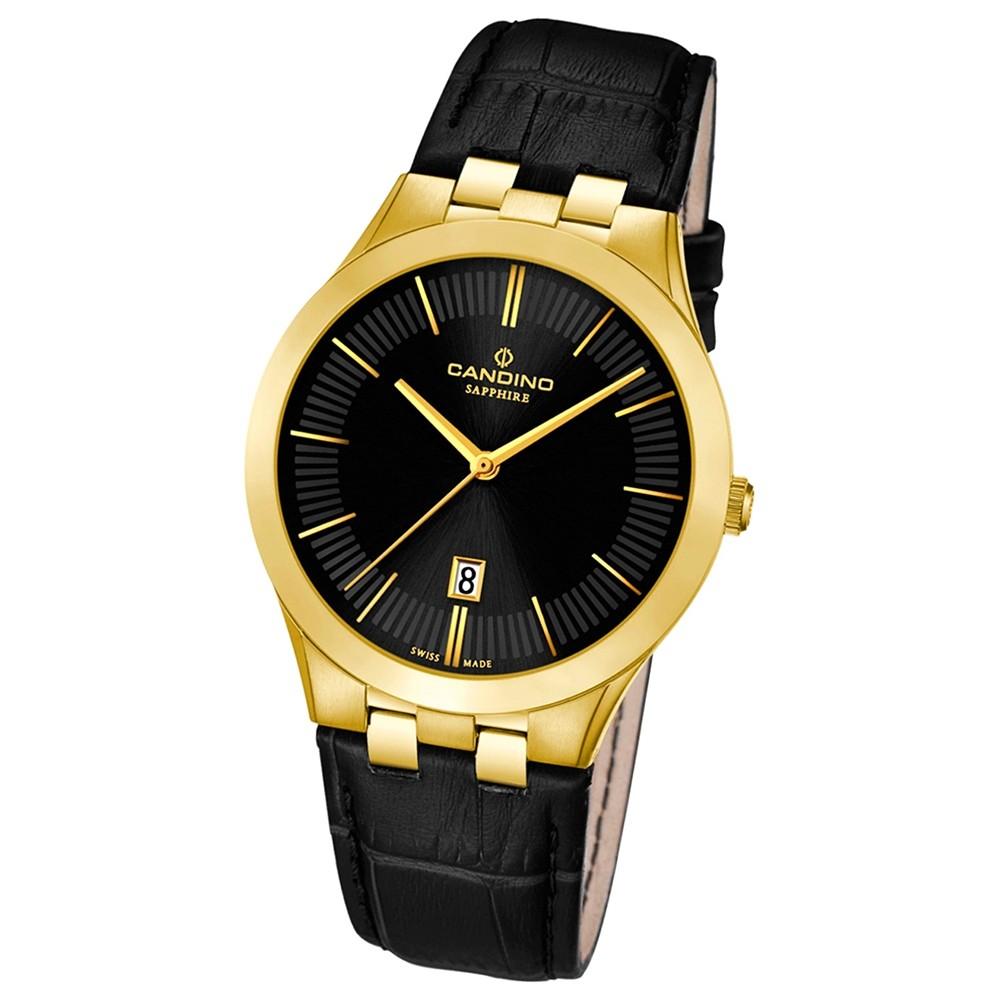 Candino Herren-Armbanduhr Timeless analog Quarz Leder UC4542/3