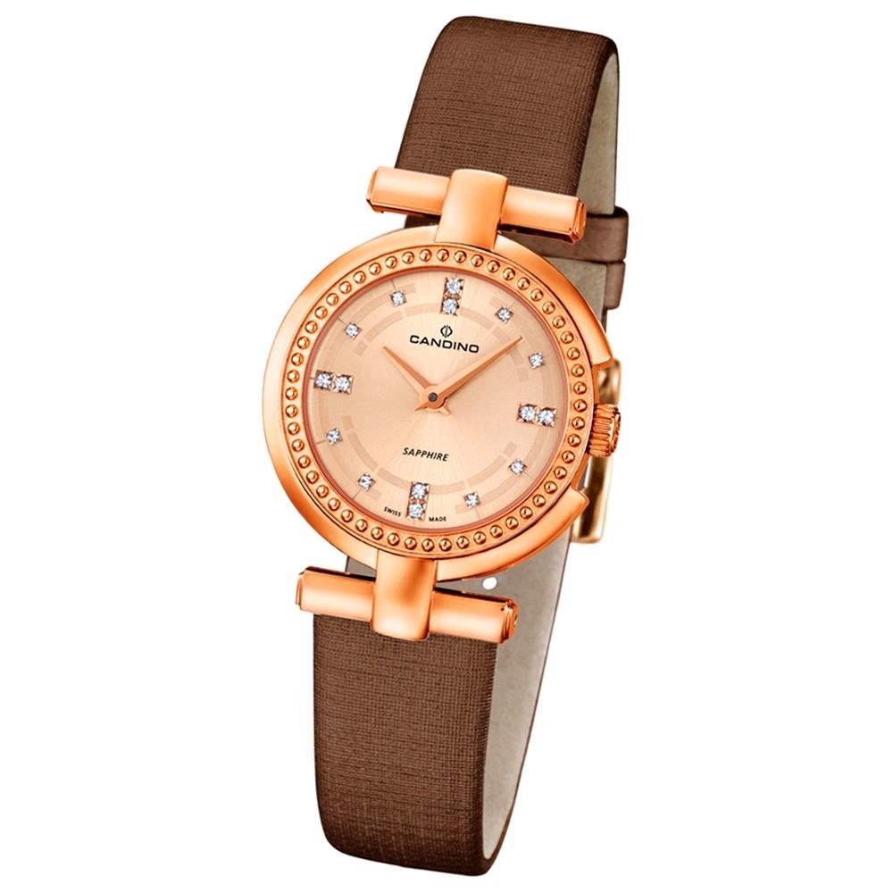CANDINO Damen-Uhr - Elegance Flair - Analog - Quarz - Leder/Textil - UC4562/2
