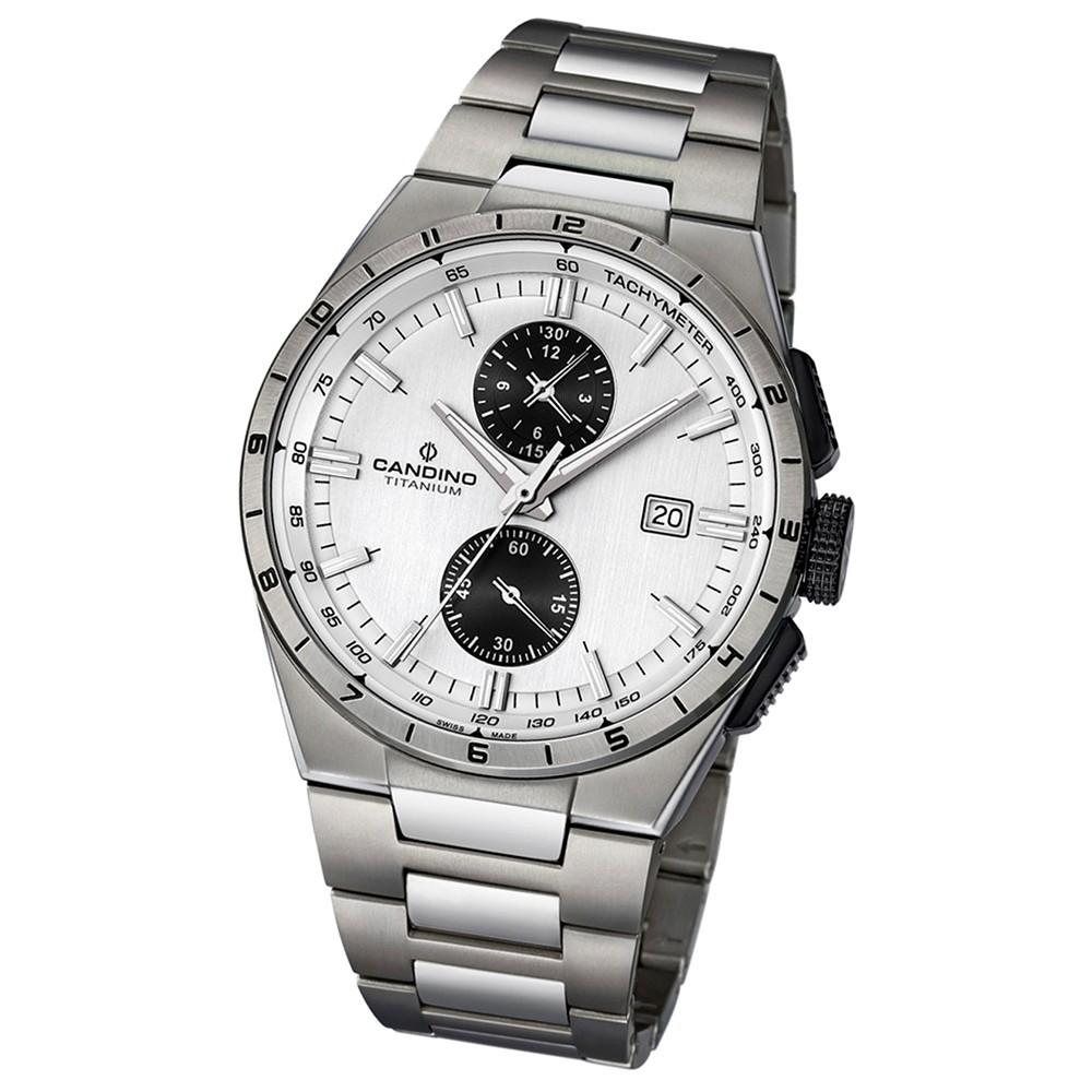 Candino Herren-Armbanduhr Elegance Sport analog Quarz Titan silbergrau UC4603/1