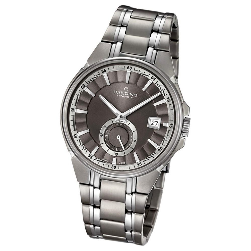 Candino Herren-Armbanduhr Titan silbergrau C4604/1 Quarzuhr Titanium UC4604/1