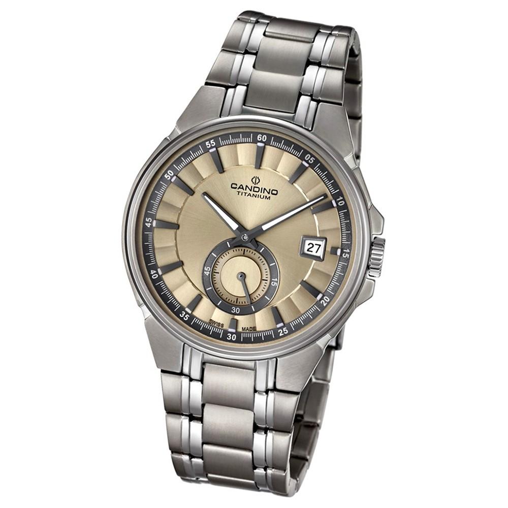 Candino Herren-Armbanduhr Titan silbergrau C4604/2 Quarzuhr Titanium UC4604/2