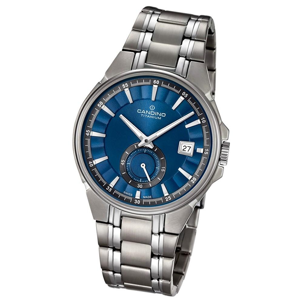 Candino Herren-Armbanduhr Titan silbergrau C4604/3 Quarzuhr Titanium UC4604/3