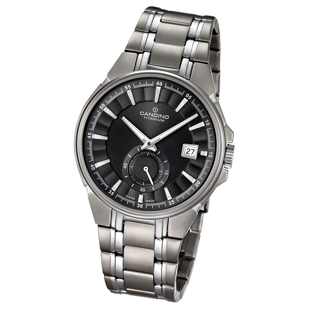 Candino Herren-Armbanduhr Titan silbergrau C4604/4 Quarzuhr Titanium UC4604/4