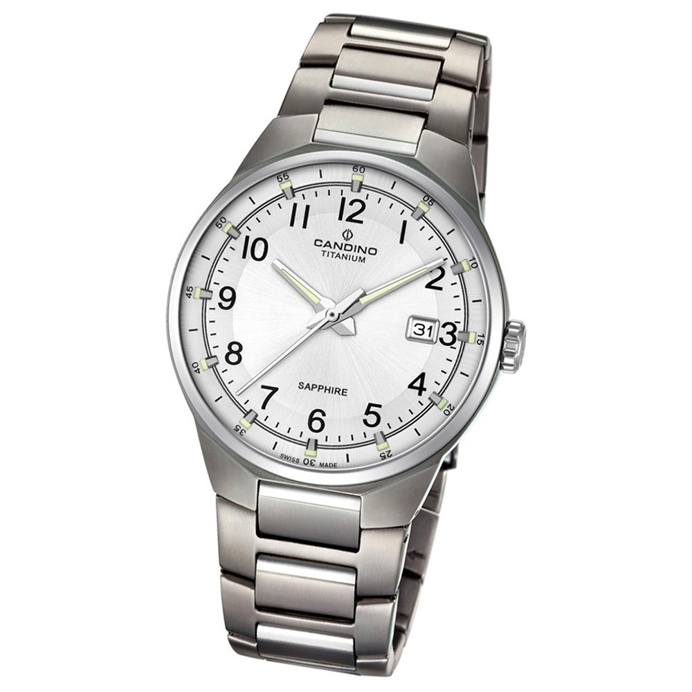 Candino Herren-Armbanduhr Titan silbergrau C4605/1 Quarzuhr Titanium UC4605/1