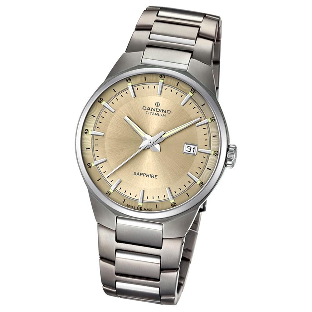 Candino Herren-Armbanduhr Titan silbergrau C4605/2 Quarzuhr Titanium UC4605/2