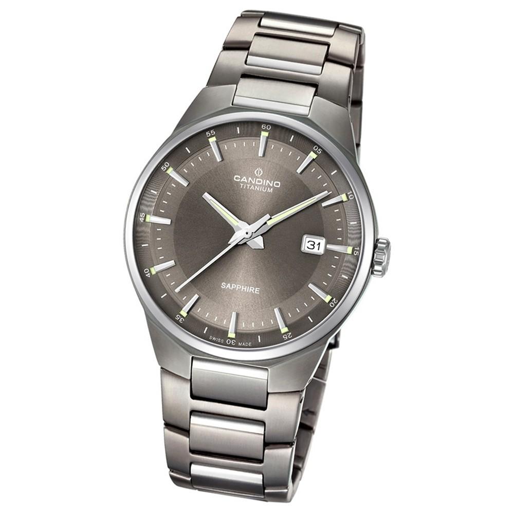 Candino Herren-Armbanduhr Titan silbergrau C4605/4 Quarzuhr Titanium UC4605/4