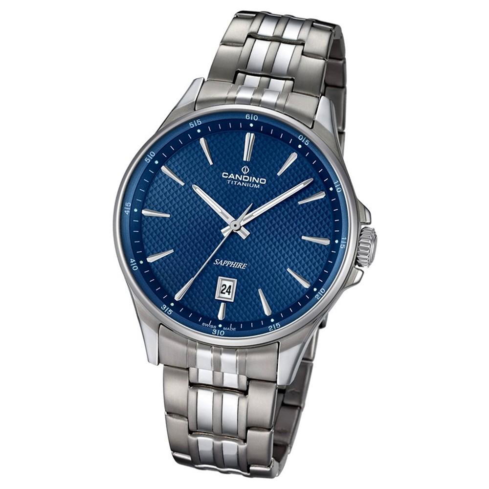 Candino Herren-Armbanduhr Titan silbergrau C4606/2 Quarzuhr Titanium UC4606/2