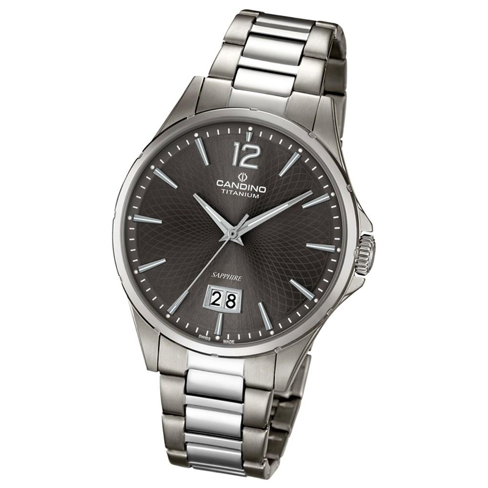 CANDINO Elegante Herren-Armbanduhr Elegance analog Quarz silbergrau UC4607/3