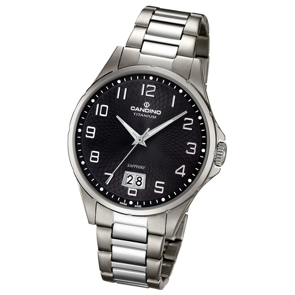 Candino Herren-Armbanduhr Titan silbergrau C4607/4 Quarzuhr Titanium UC4607/4