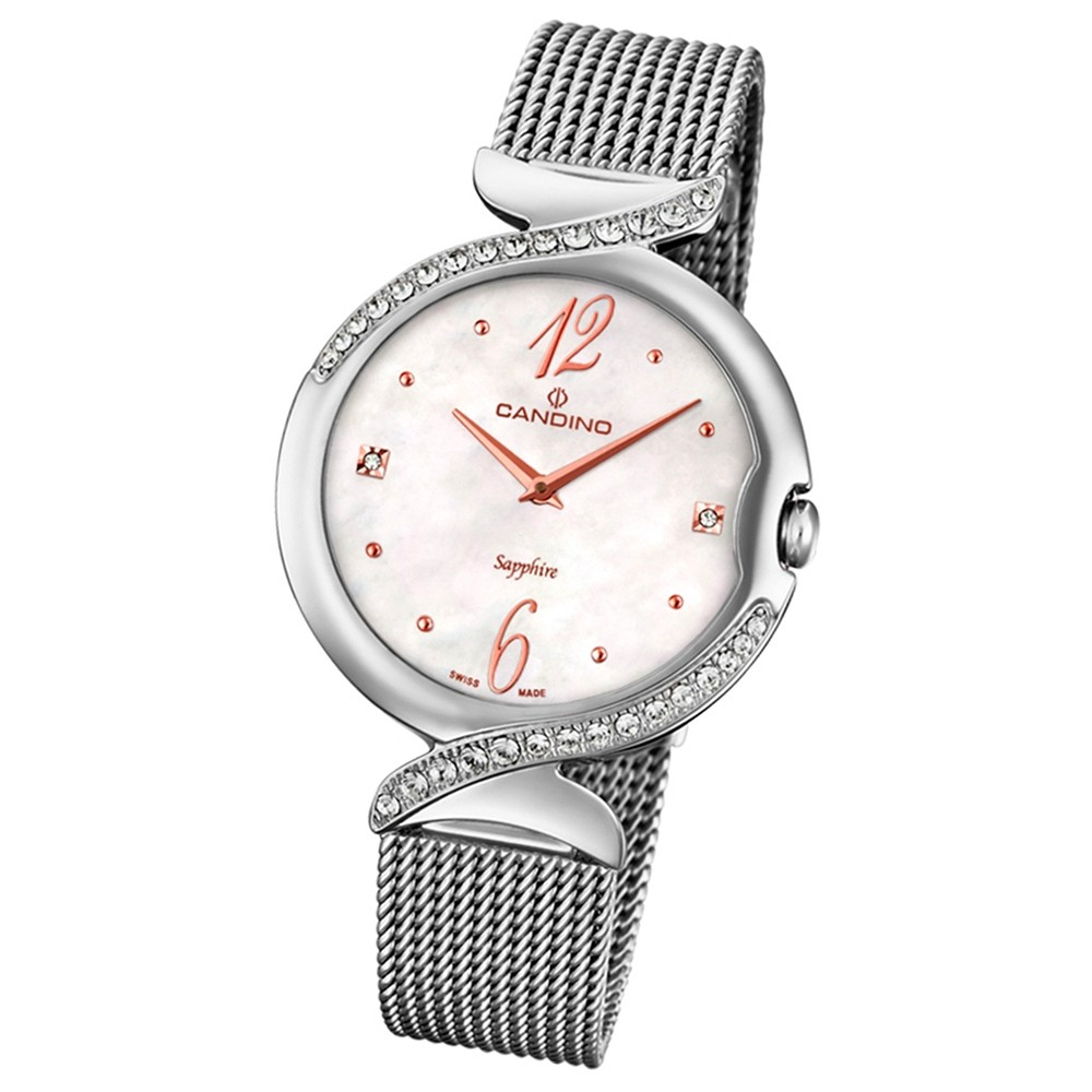 Candino Damen-Armbanduhr Edelstahl silber C4611/1 Quarz Elegance Flair UC4611/1