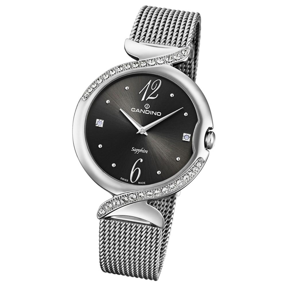 Candino Damen-Armbanduhr Edelstahl silber C4611/2 Quarz Elegance Flair UC4611/2