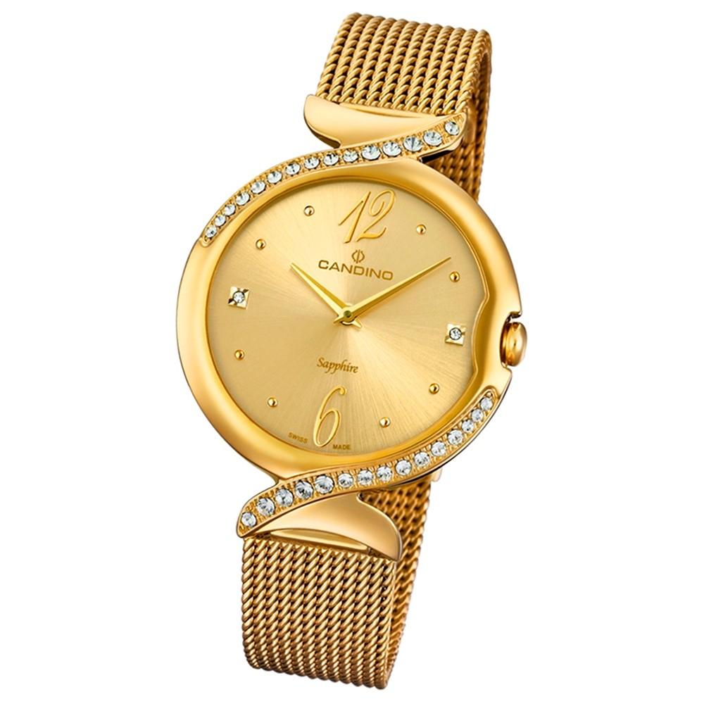 Candino Damen-Armbanduhr Edelstahl gold C4612/2 Quarz Elegance Flair UC4612/2
