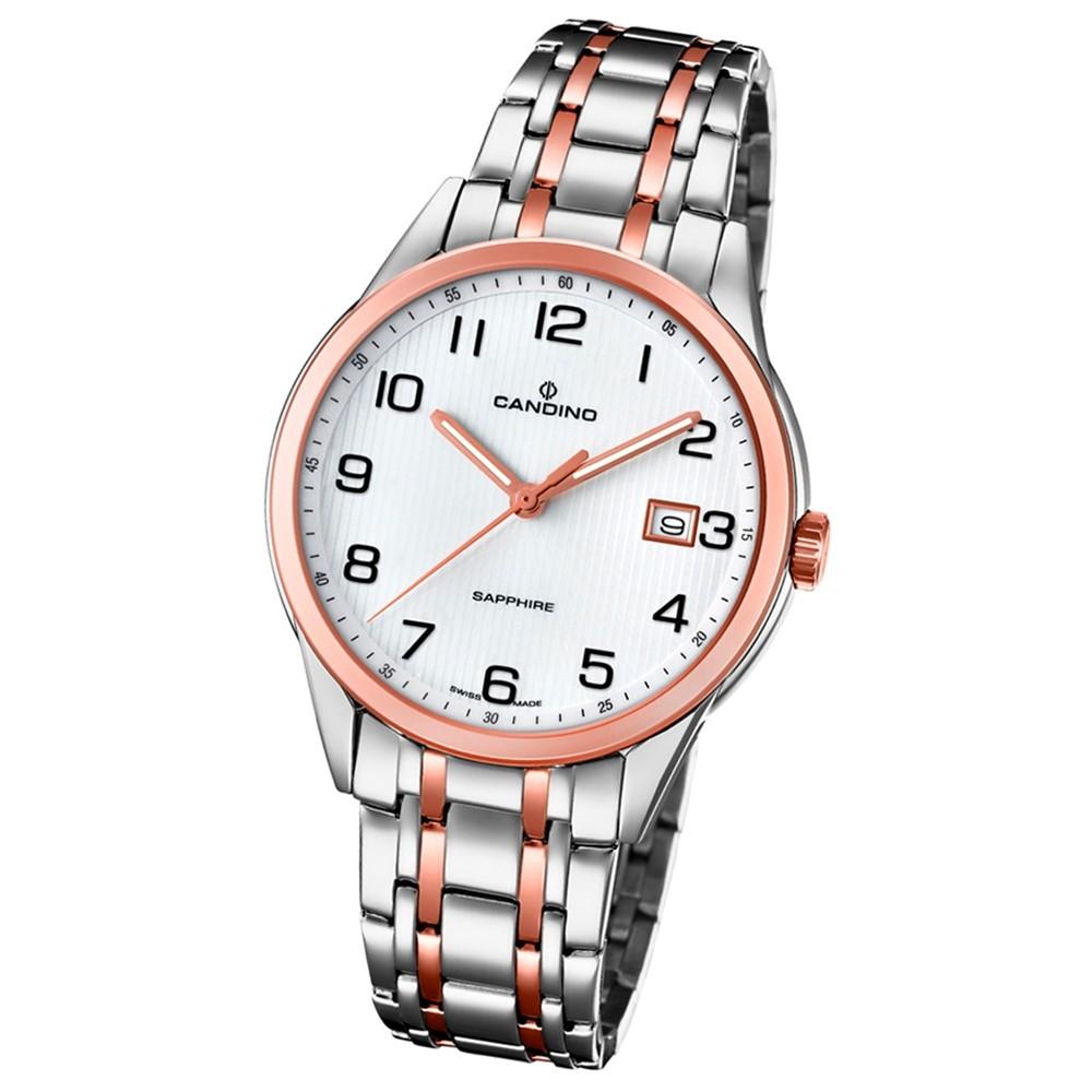 Candino Herren-Uhr Edelstahl silber roségold C4616/1 Quarz Klassisch UC4616/1