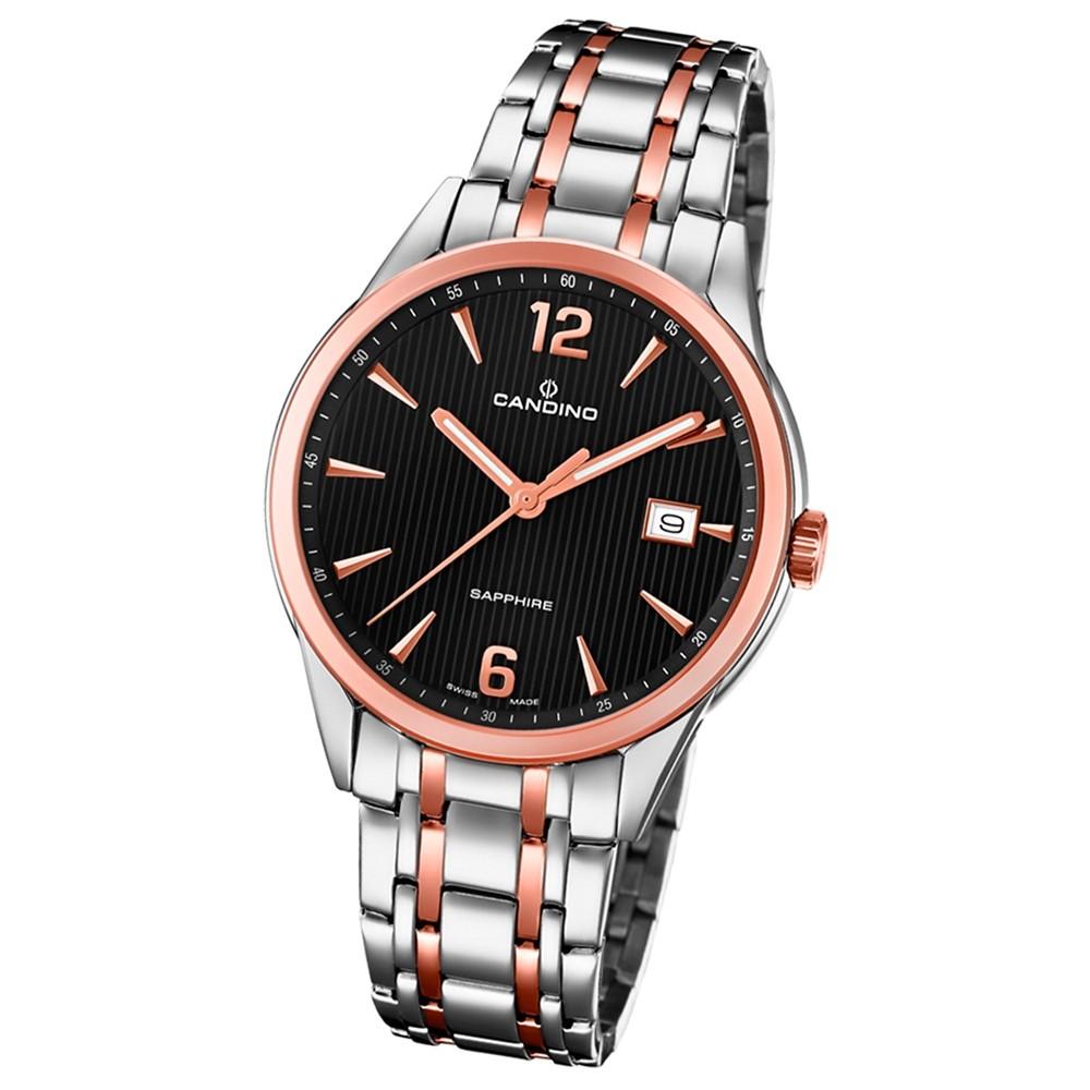 Candino Herren-Uhr Edelstahl silber roségold C4616/3 Quarz Klassisch UC4616/3