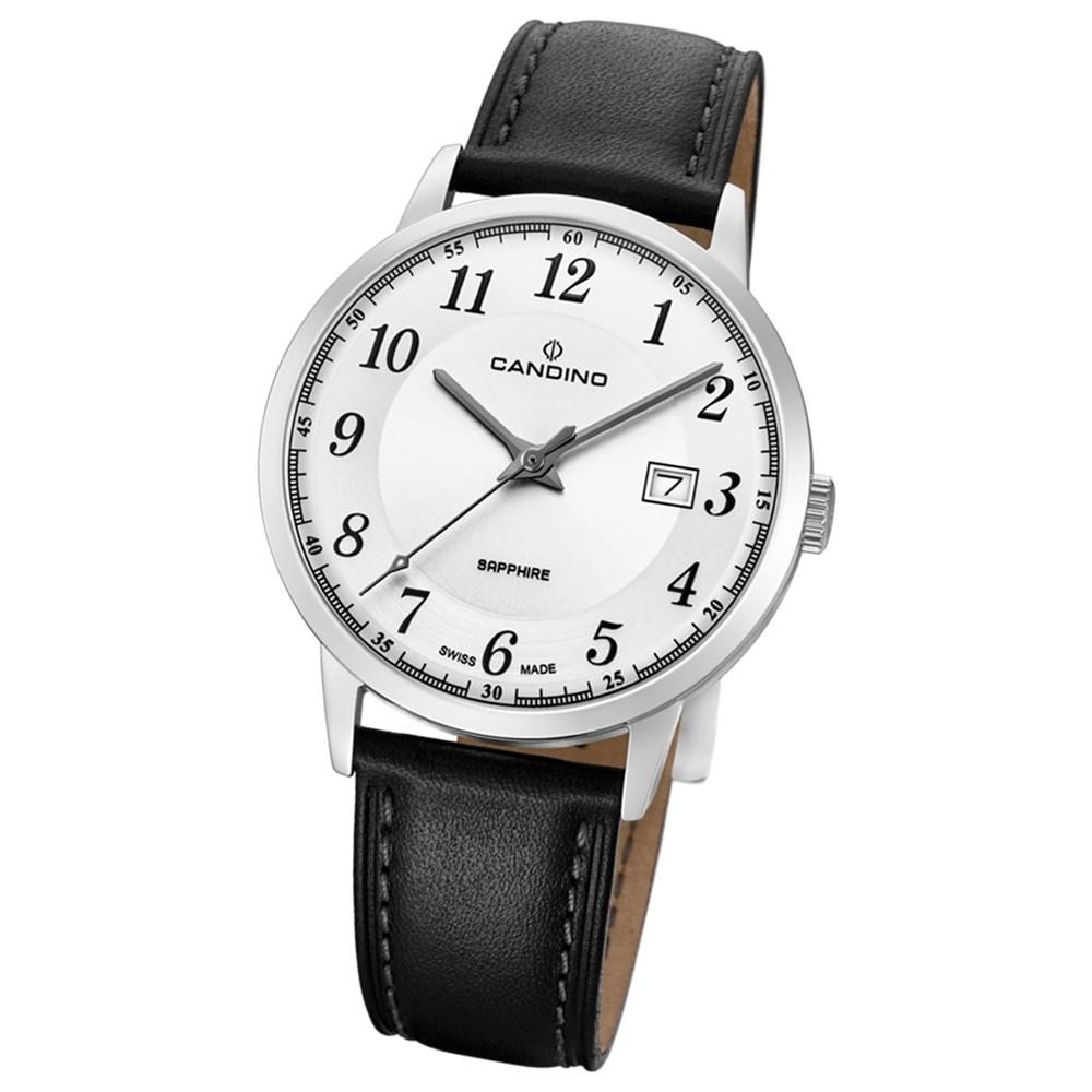 Candino Herren-Armbanduhr Leder schwarz C4618/1 Quarz Classic Timeless UC4618/1