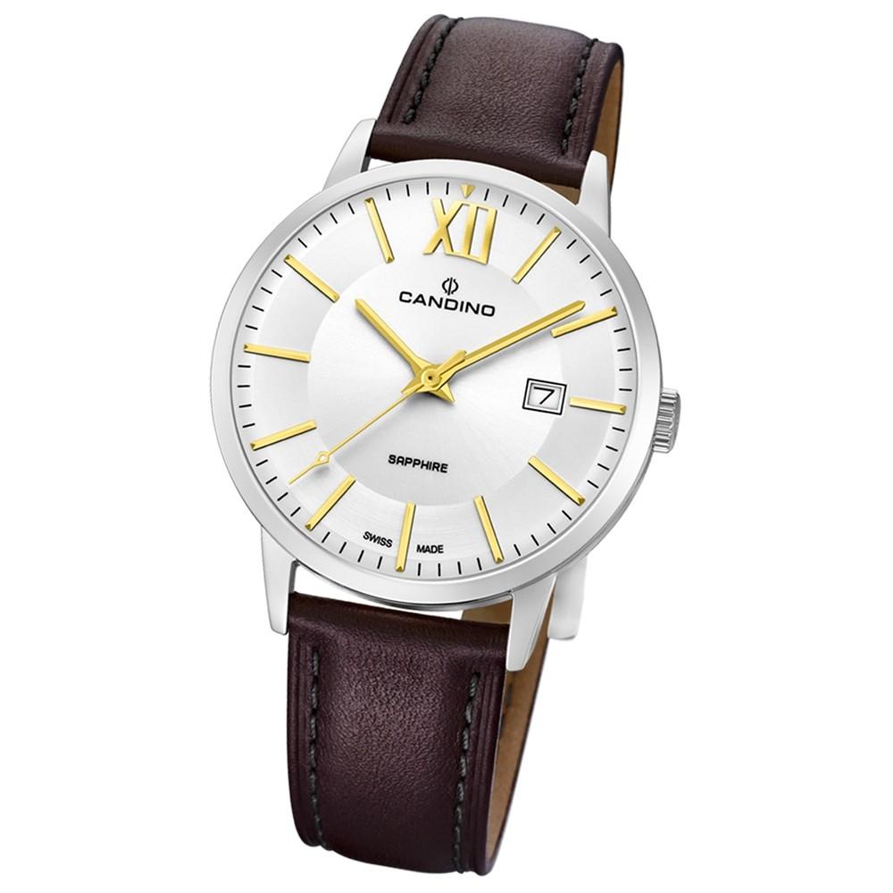 Candino Herren-Armbanduhr Leder braun C4618/2 Quarz Classic Timeless UC4618/2