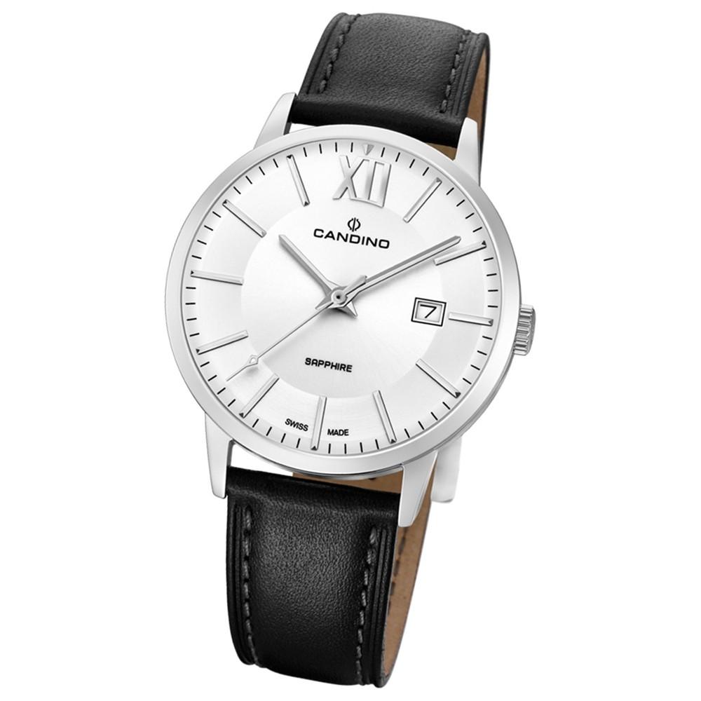 Candino Herren-Armbanduhr Leder schwarz C4618/3 Quarz Classic Timeless UC4618/3