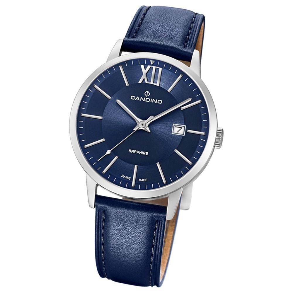 Candino Herren-Armbanduhr Leder blau C4618/4 Quarz Classic Timeless UC4618/4