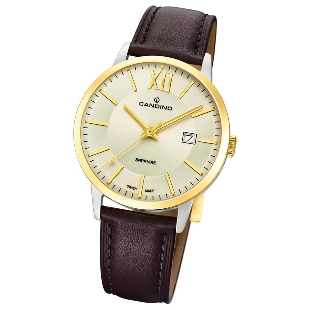 Candino Herren-Armbanduhr Leder braun C4619/1 Quarz Classic Timeless UC4619/1