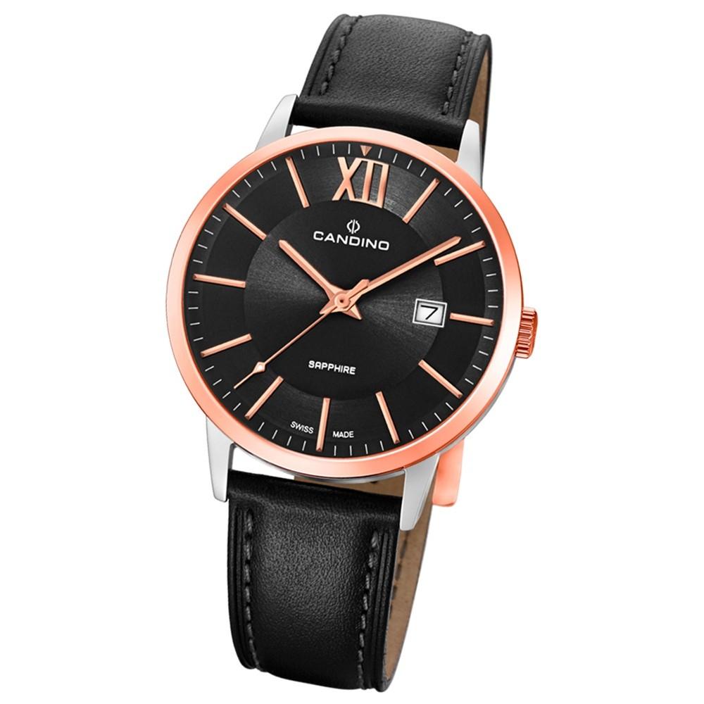 Candino Herren-Armbanduhr Leder schwarz C4620/1 Quarz Classic Timeless UC4620/1