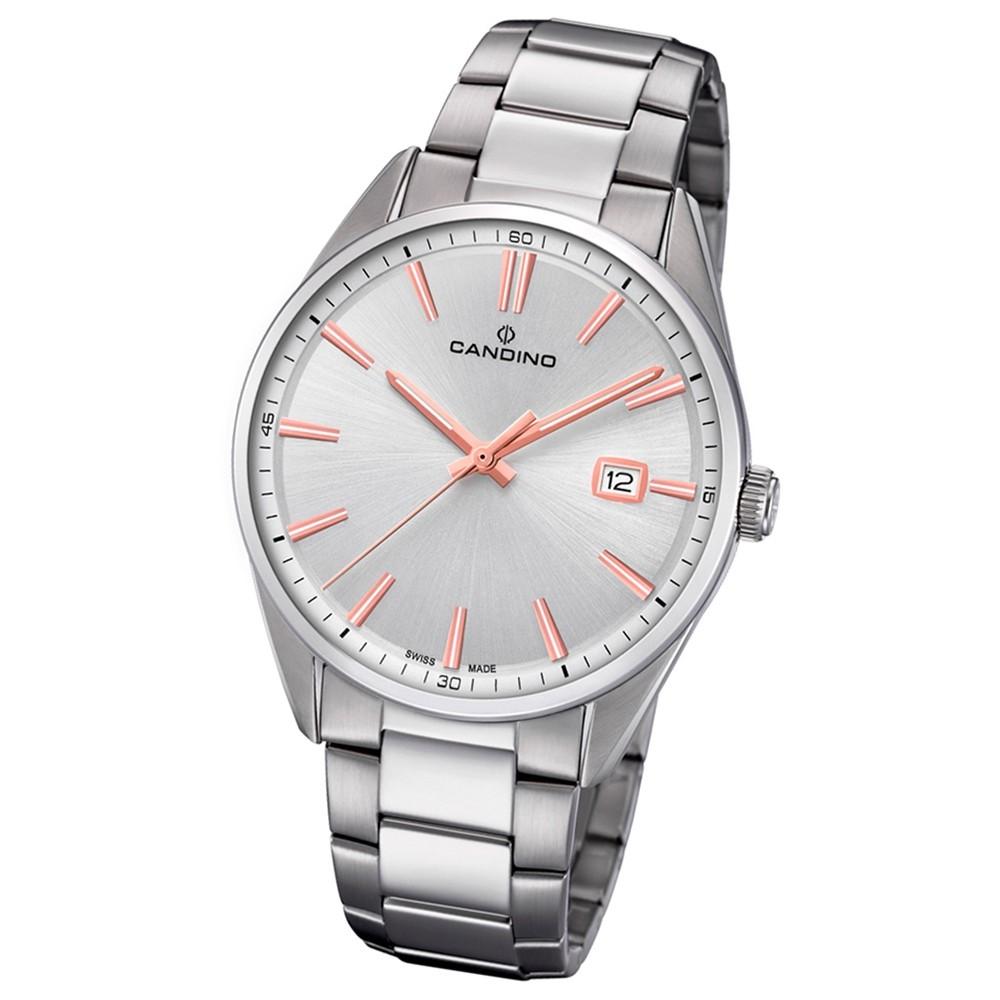 Candino Herren-Armbanduhr Edelstahl silber C4621/1 Quarz Klassisch UC4621/1