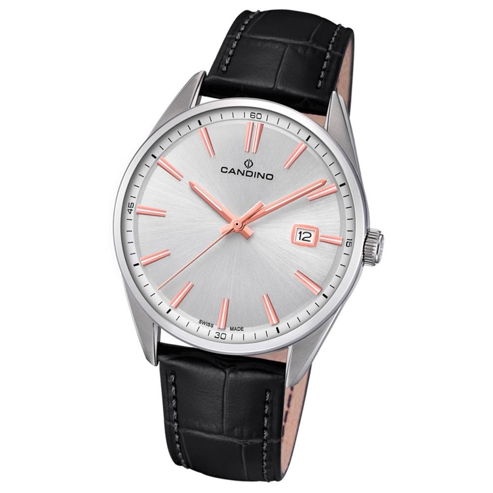 Candino Herren-Armbanduhr Leder schwarz C4622/1 Quarz Classic Timeless UC4622/1