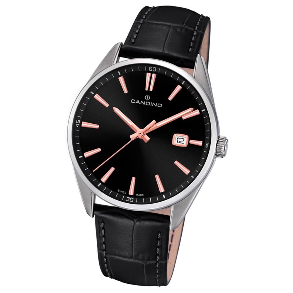 Candino Herren-Armbanduhr Leder schwarz C4622/4 Quarz Classic Timeless UC4622/4