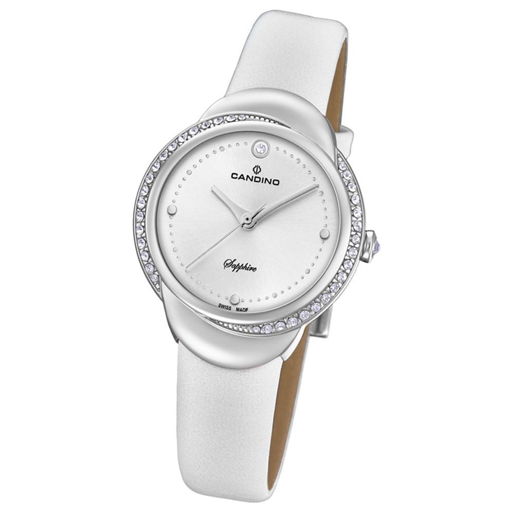 Candino Damen-Armbanduhr Leder weiß C4623/1 Quarz Elegance Delight UC4623/1