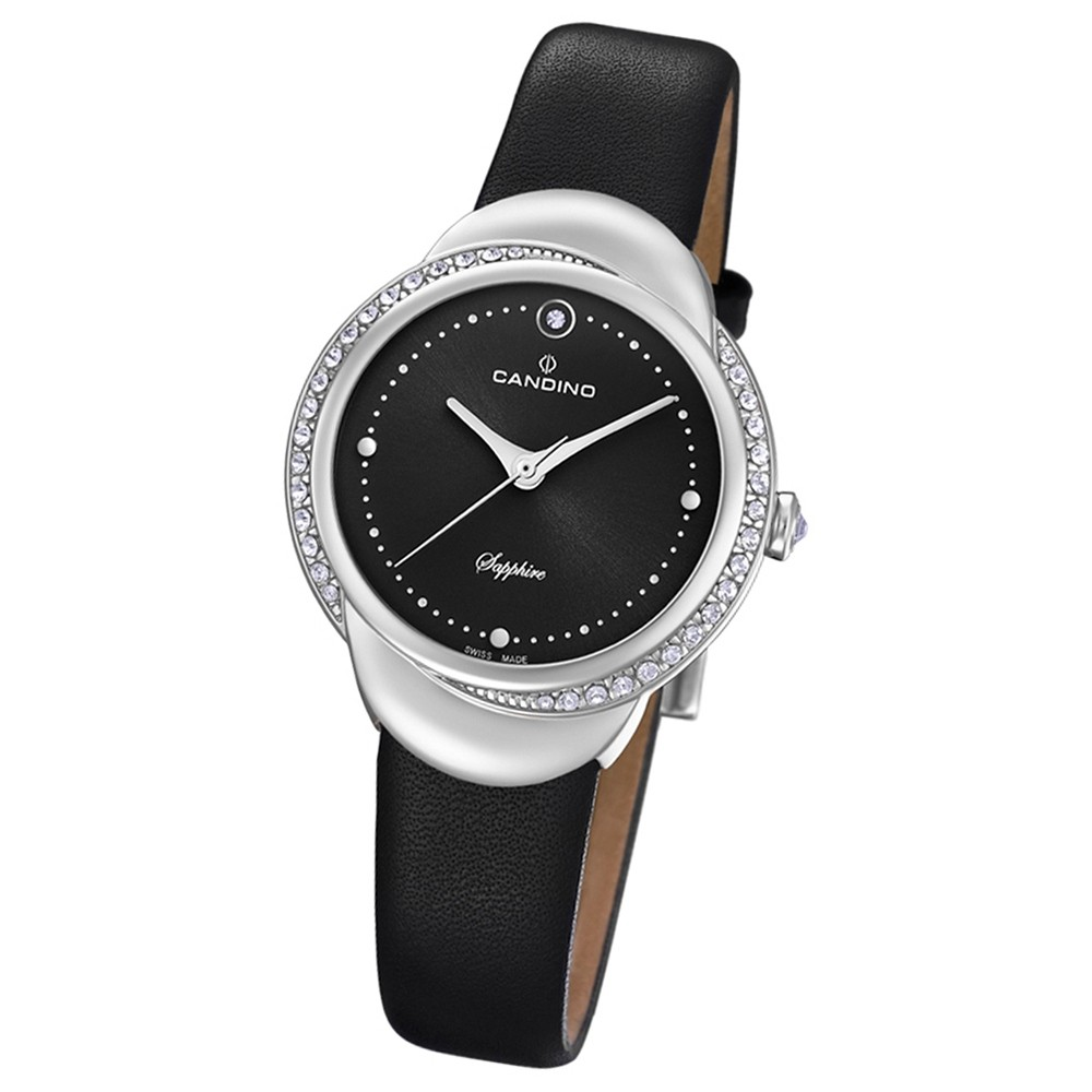 Candino Damen-Armbanduhr Leder schwarz C4623/2 Quarz Elegance Delight UC4623/2