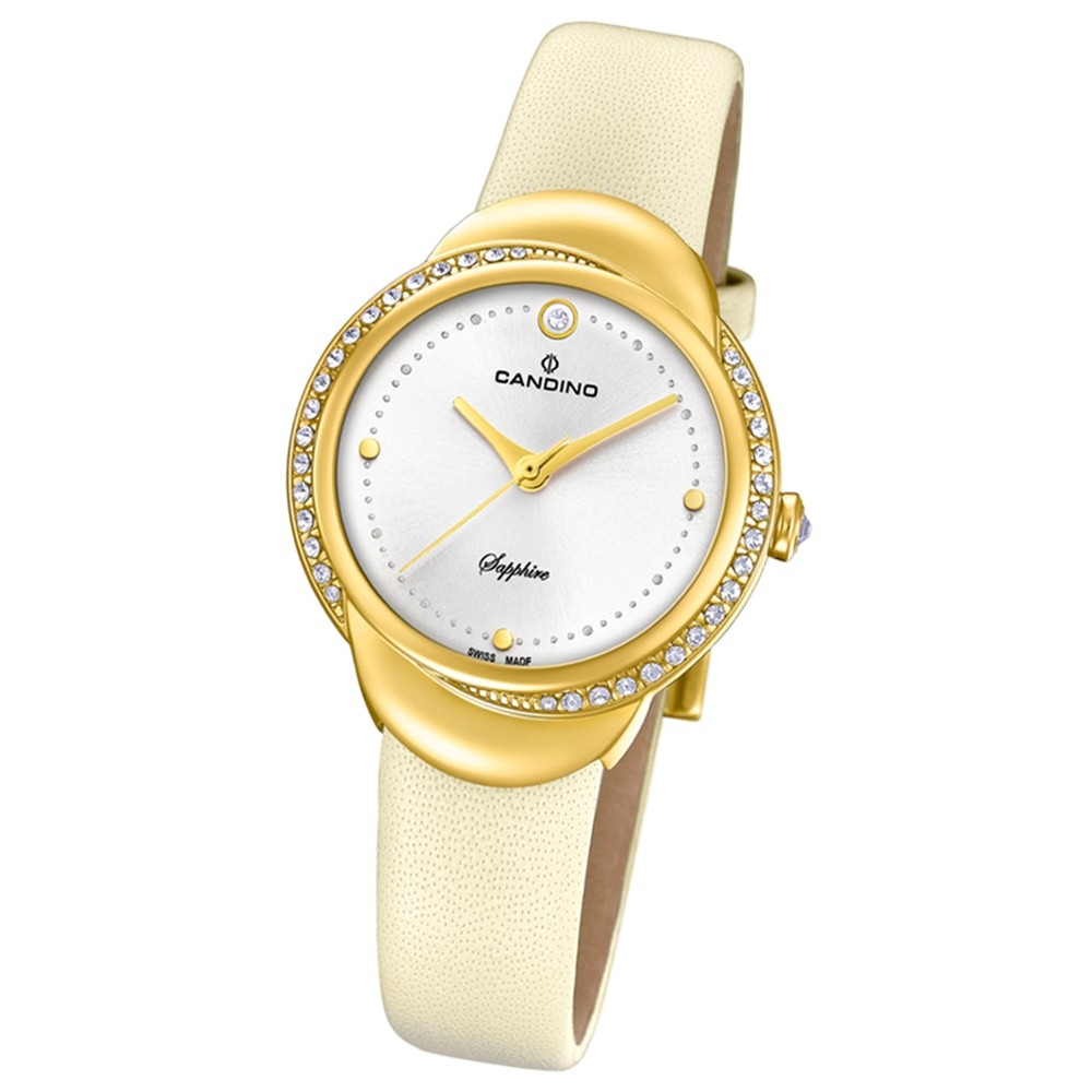 Candino Damen-Armbanduhr Leder creme C4624/1 Quarz Elegance Delight UC4624/1