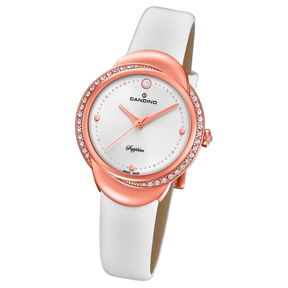 Candino Damen-Armbanduhr Leder weiß C4625/1 Quarz Elegance Delight UC4625/1