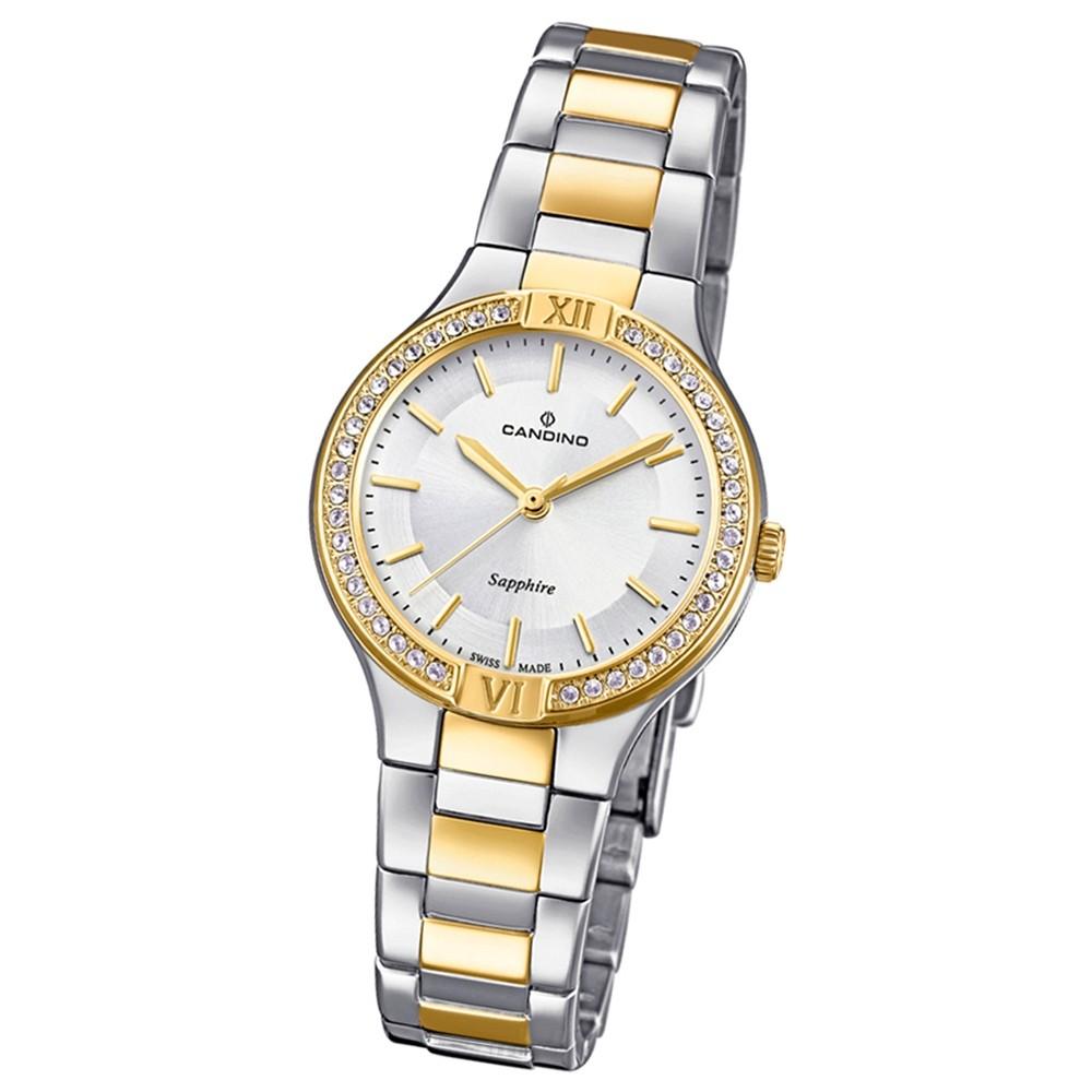 Candino Damen-Armbanduhr Edelstahl silber gold C4627/1 Quarzuhr UC4627/1