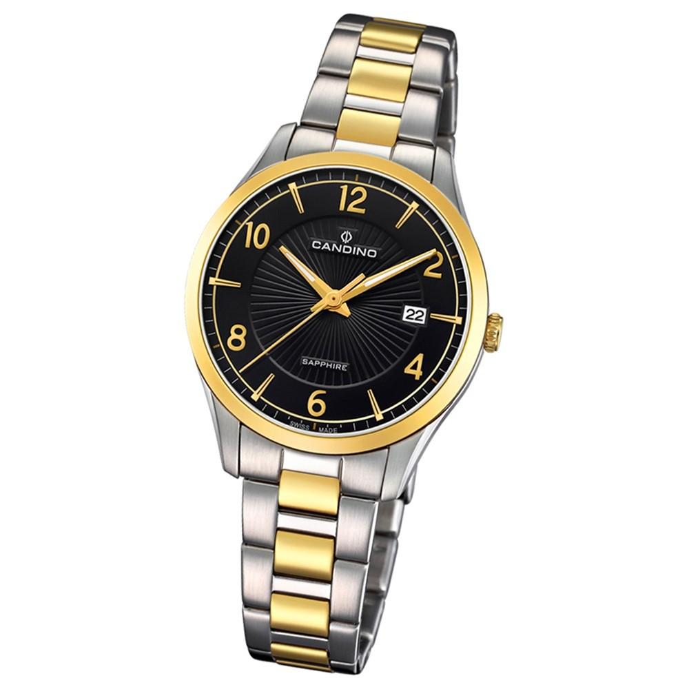 Candino Damen-Armbanduhr Edelstahl silber gold C4632/2 Quarz Klassisch UC4632/2