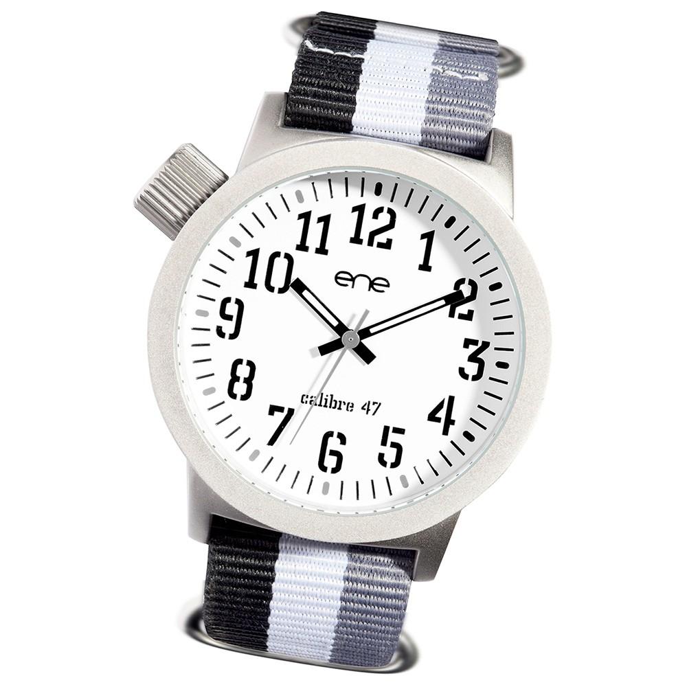 Ene Watch Modell 109 Nato weiß/grau-strap, 47mm, Nylon-Armband UE71923