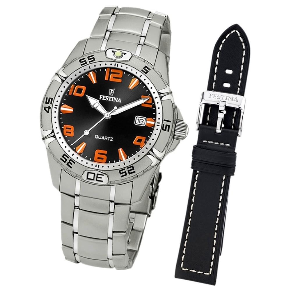 FESTINA Herren-Armbanduhr analog Quarz Edelstahl UF16170/A
