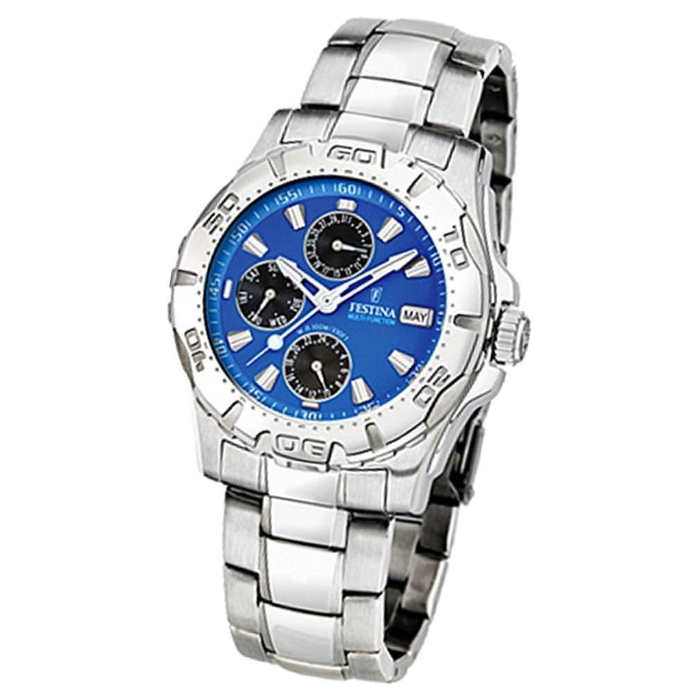 FESTINA Herren-Armbanduhr analog Quarz Edelstahl Sport Uhr UF16242/4