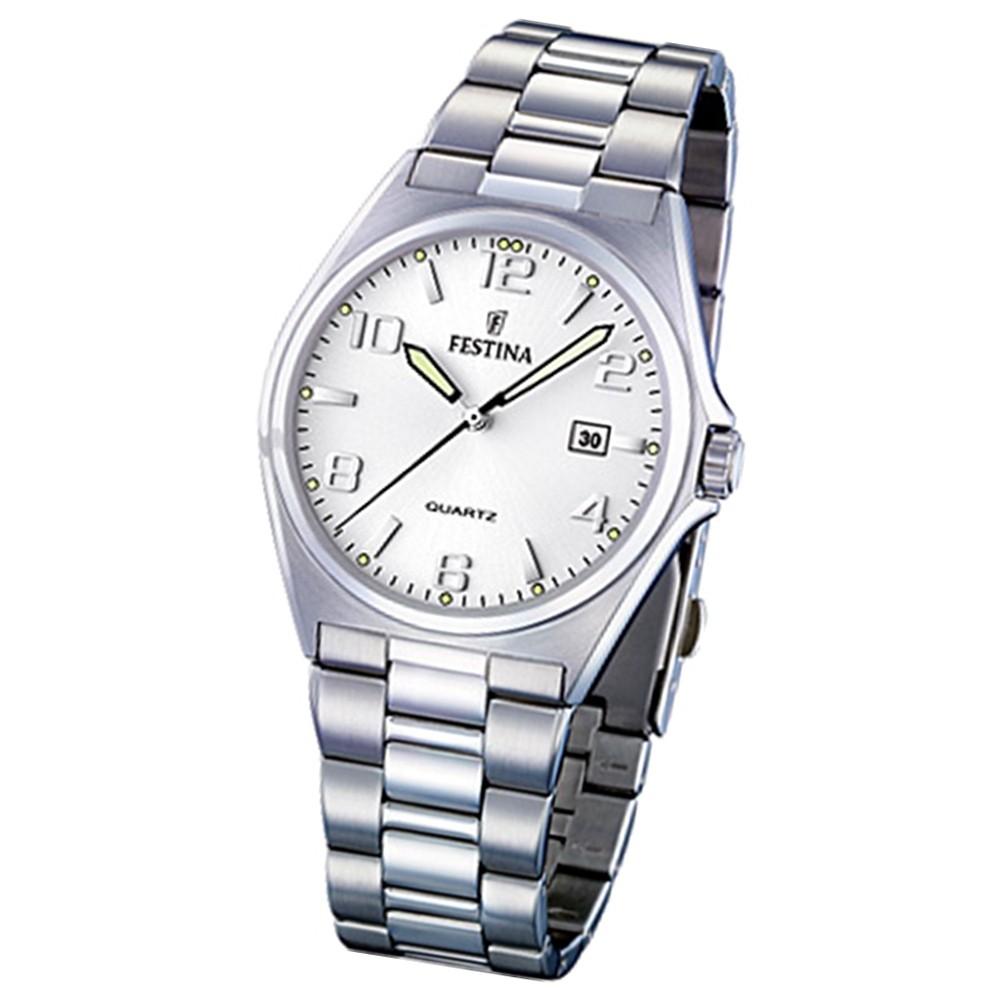FESTINA Herren-Armbanduhr analog Quarz Edelstahl Klassik Uhr UF16374/5