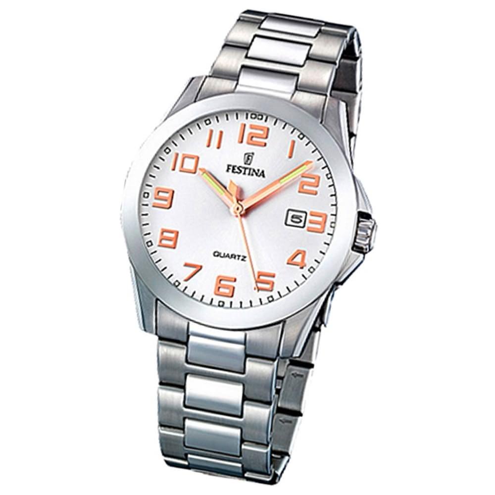 FESTINA Herren-Armbanduhr analog Quarz Edelstahl Klassik Uhr UF16376/3