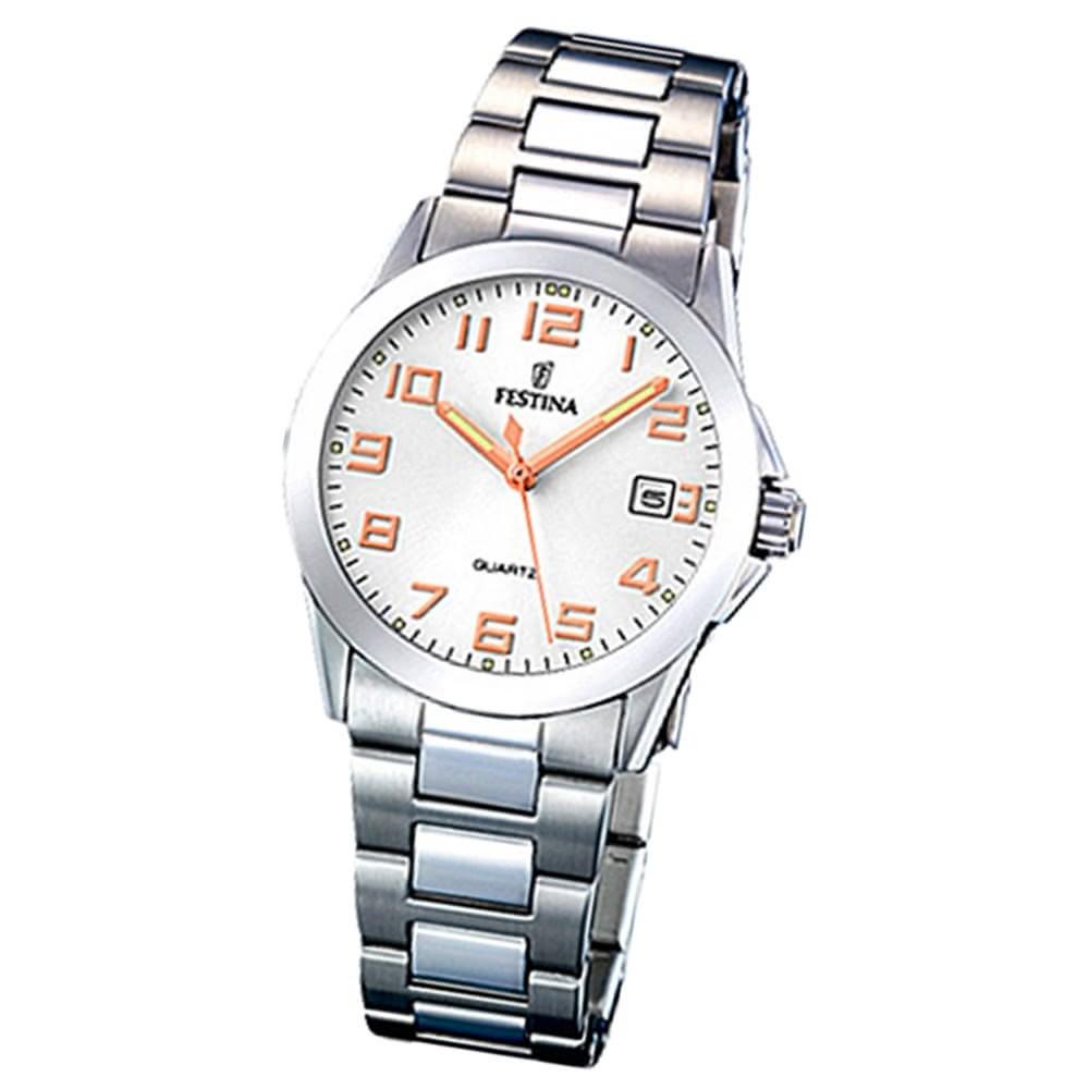 FESTINA Damen-Armbanduhr analog Quarz Edelstahl Klassik Uhr UF16377/3