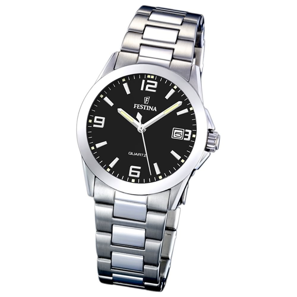 FESTINA Damen-Armbanduhr analog Quarz Edelstahl Klassik Uhr UF16377/4