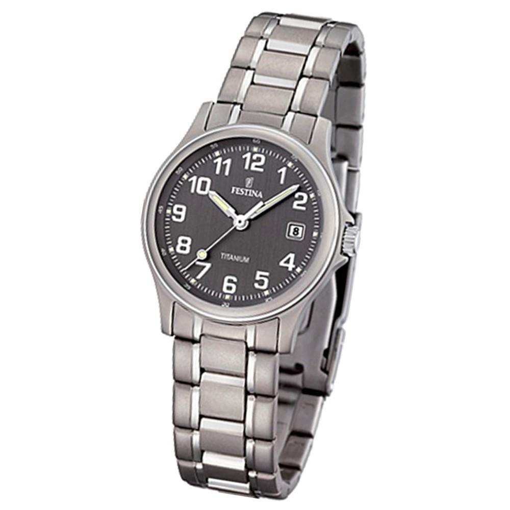 FESTINA Damen-Armbanduhr analog Quarz Titan UF16459/2