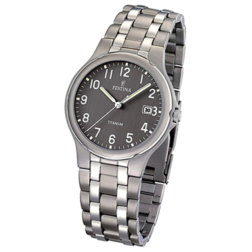 FESTINA Herren-Armbanduhr analog Quarz Titan Klassik Uhr UF16460/2