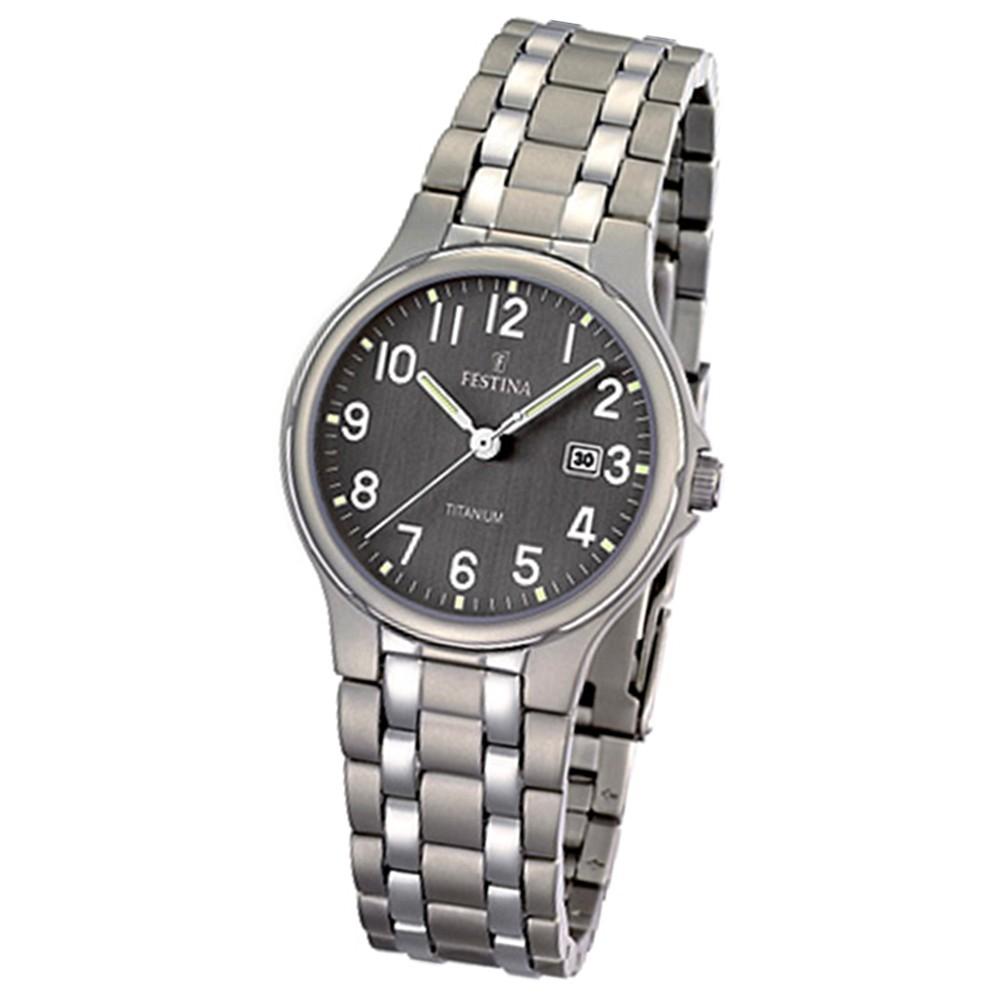 FESTINA Damen-Armbanduhr analog Quarz Titan Klassik Uhr UF16461/2