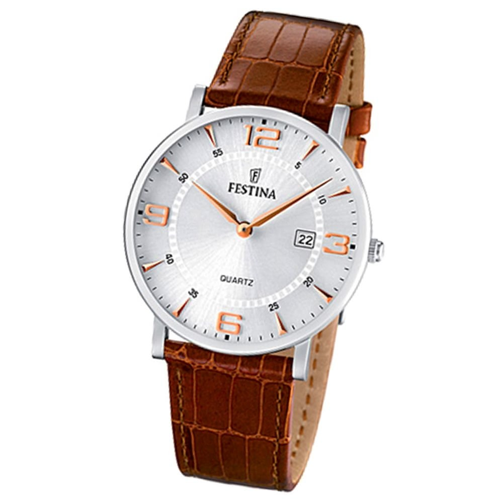 FESTINA Herren-Armbanduhr analog Quarz Leder Klassik Uhr UF16476/4