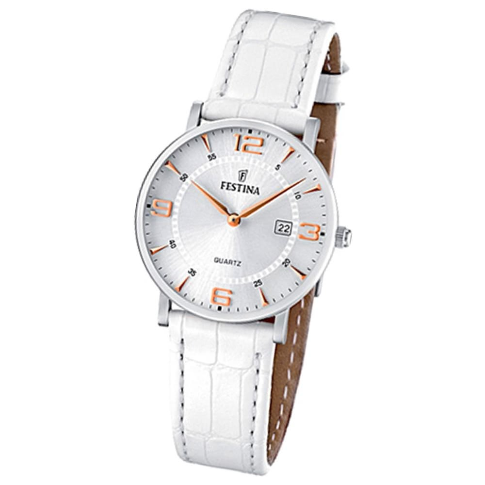FESTINA Damen-Armbanduhr analog Quarz Leder Klassik Uhr UF16477/4